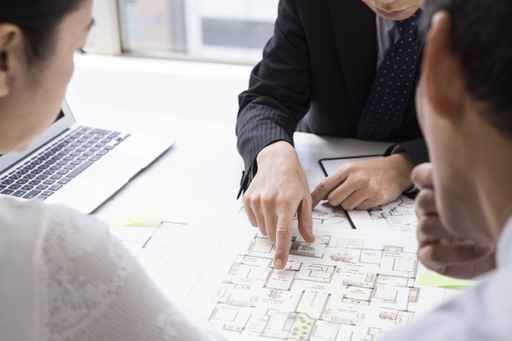 Couple who are considering a real estate investment